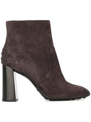 Tod's Zipped Boots Pink And Purple
