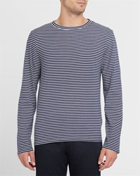 Sandro Blue And White Striped Ls T Shirt