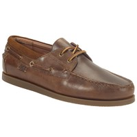 Ralph Lauren Dayne Leather Boat Shoes Light Tan