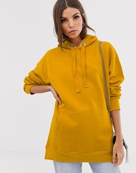 French Connection Alvar Longline Hoodie Yellow