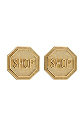 Moschino Statement Earrings Gold