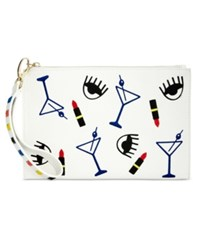 Inc International Concepts Wristlet Only At Macy's White Multi