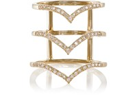 Bianca Pratt Women's Triple Stack Cage Ring Gold