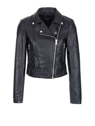 Morgan Lambskin Biker Jacket Black