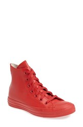Converse Women's Chuck Taylor All Star Waterproof Rubber Rain Sneaker Red