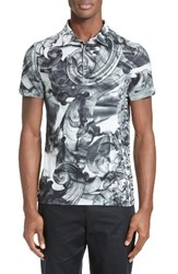 Versace Men's Tie Dye Polo