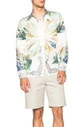 Versace Printed Trend Shirt In White Abstract Animal Print