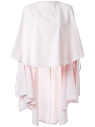Bintthani Draped Long Poncho White