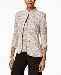 Alex Evenings Printed Jacket And Shell Set Beige