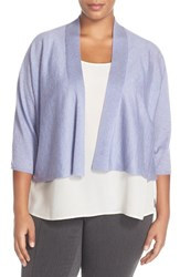 Plus Size Women's Eileen Fisher Kimono Sleeve Crop Cardigan Plus Size