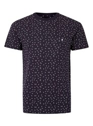 Peter Werth Blue Navy And White Arrow Woven T Shirt