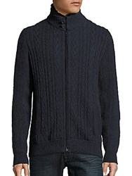 Loro Piana Long Sleeve Fur Trimmed Cardigan Ocean