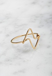 Forever 21 By Boe Double Triangular Ring Gold