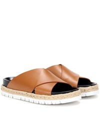 Marni Leather Sandals Brown