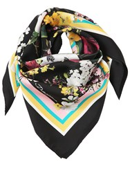 Dolce And Gabbana Floral Printed Silk Scarf