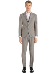 Tagliatore Cotton Micro Houndstooth Suit Brown