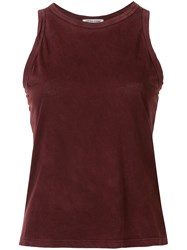 Cotton Citizen Faded Look Vest Top Red