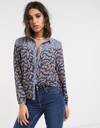 Only Shirt In Paisley Mixed Print Multi
