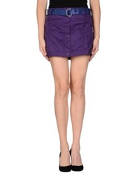 Armani Jeans Mini Skirts Purple