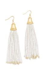 Adia Kibur Caitlin Earrings Gold White