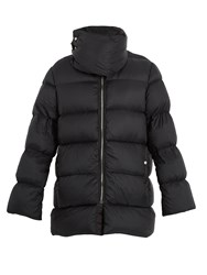 Rick Owens Funnel Neck Quilted Down Coat Black