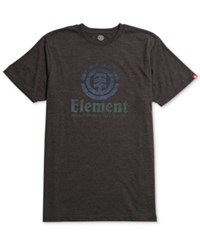Element Men's Vertical Push Graphic Print Logo T Shirt Black