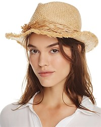 Echo Palm Fringe Panama Hat Natural