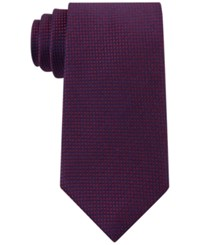 Tommy Hilfiger Men's Navy Micro Dot Tie Red