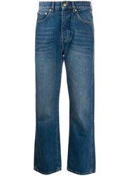 Victoria Beckham High Rise Stonewashed Jeans Blue