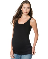 A Pea In The Pod Maternity Tank Top Black