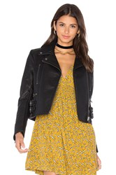 Free People Soho Vegan Leather Jacket Black