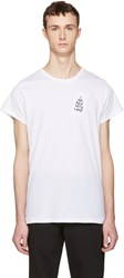Ann Demeulemeester White I Am Red With Love T Shirt