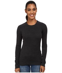Smartwool Nts Mid 250 Crew Top Charcoal Heather Long Sleeve Pullover Gray