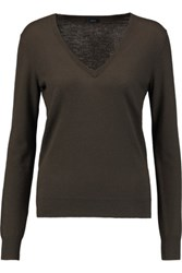 Joseph Cashmere Sweater Army Green