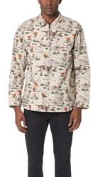 White Mountaineering Hunting Pattern Popover Beige