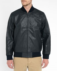 Levi's Midnight Blue Pr Leather Bomber Jacket