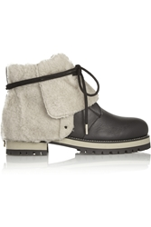 Jimmy Choo Dalton Shearling Lined Leather Boots