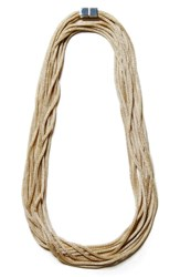 Lafayette 148 New York Mesh Chain Multistrand Necklace Pale Gold