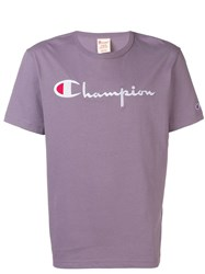 Champion Logo T Shirt Purple