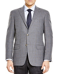 Hart Schaffner Marx Box Check Classic Fit Sport Coat Bloomingdale's Exclusive Grey Brown Blue