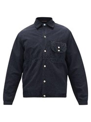 The Gigi Powell Cotton And Flax Blend Shirt Navy