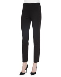 Josie Natori Knit Jersey Ankle Pants Black