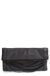 Ash 'Domino' Chain Foldover Leather Clutch