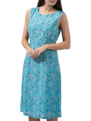 Sugarhill Boutique Aria Mermaid Fit And Flare Dress Dusky Blue