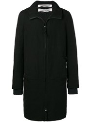 Individual Sentiments Woven Straight Fit Coat Black