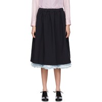 Comme Des Garcons Girl Navy Ruffle Layered Skirt