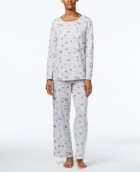 Charter Club Printed Knit Pajama Set Only At Macy's Snowbird