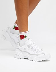 Skechers D'lites White Trainers