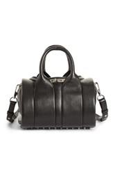 Alexander Wang Rockie Nickel Leather Satchel Black