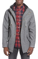 Barney Cools Woolen Hooded Fishtail Parka Grey